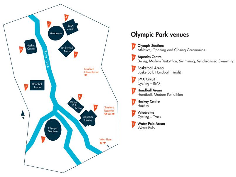Стадионы, расположенные в Олимпийском Парке