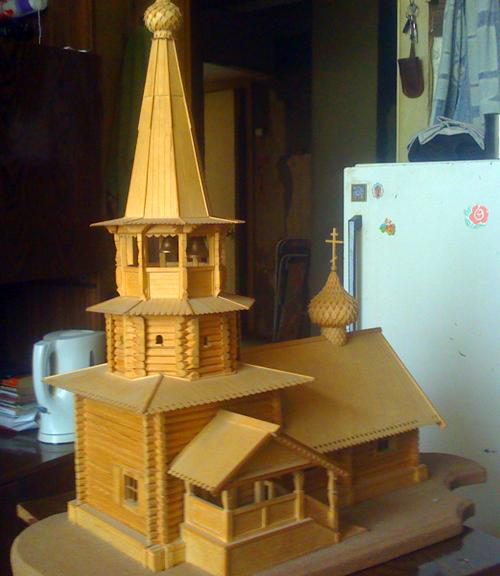 Макет церкви из дерева своими руками